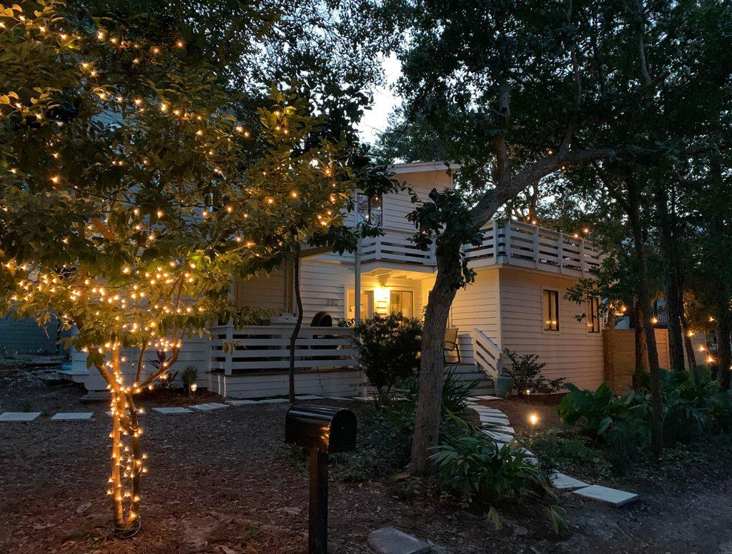 Внешнее дерево с рождественскими огнями перед Белым домом