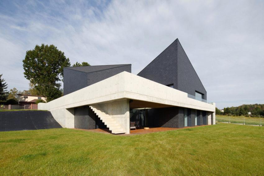 Дом в Кростошовицах, автор RS + Роберт Скитек (4)