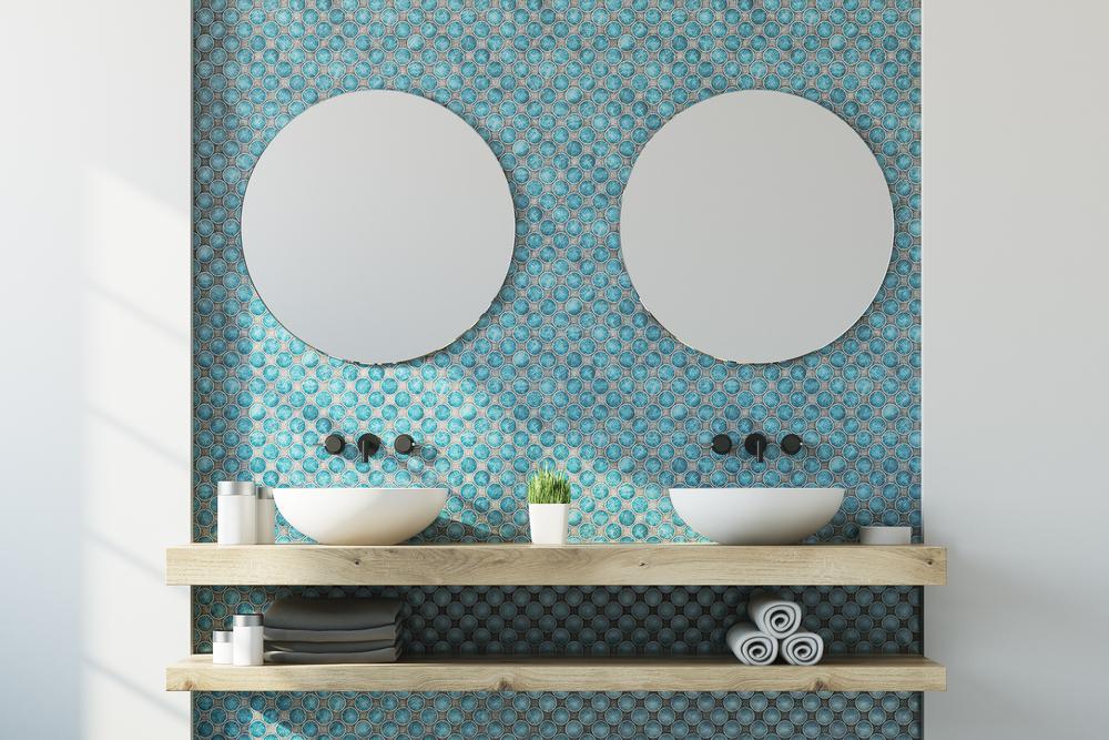 пастельные тона в ванной комнате