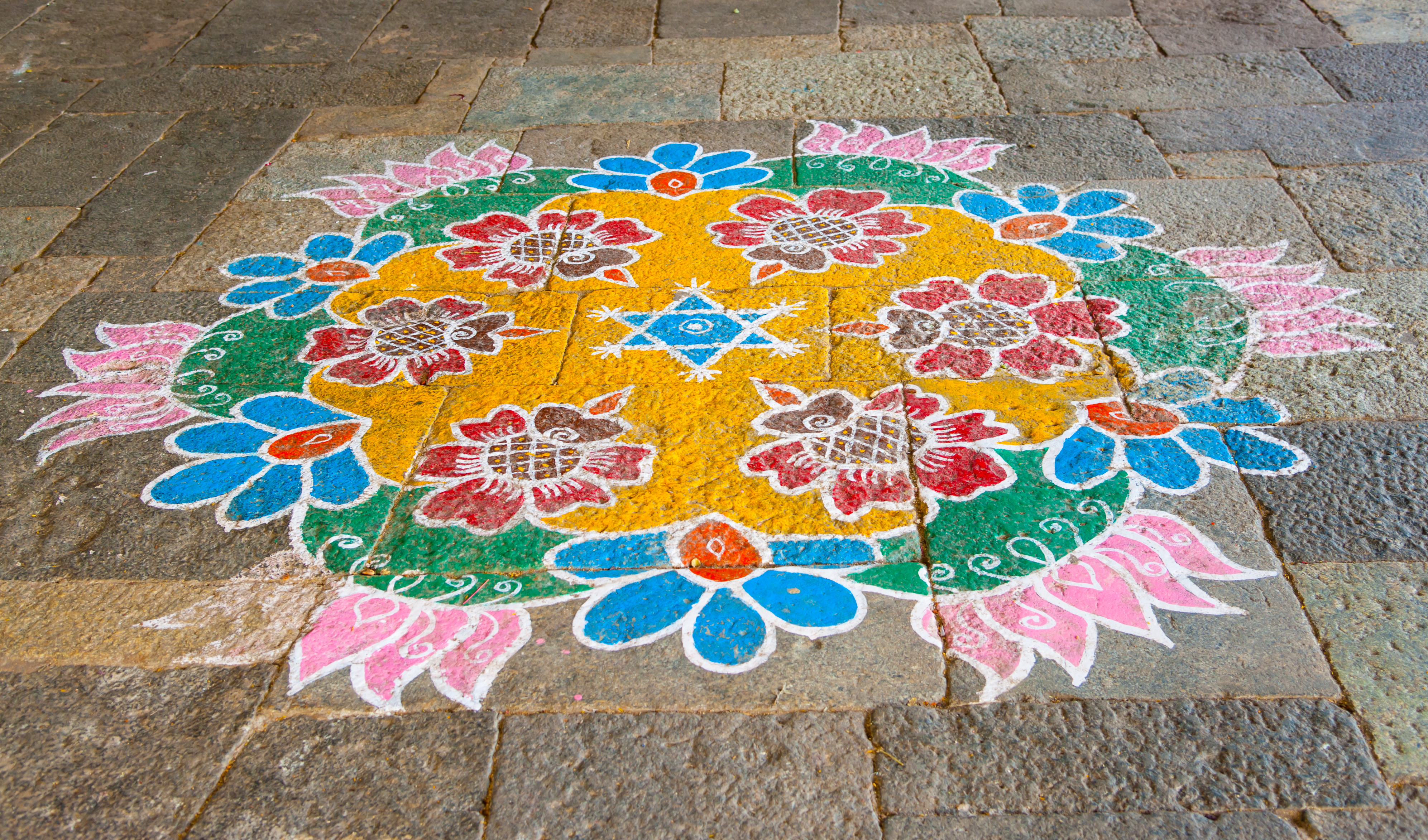 Дизайн Ранголи для Понгал