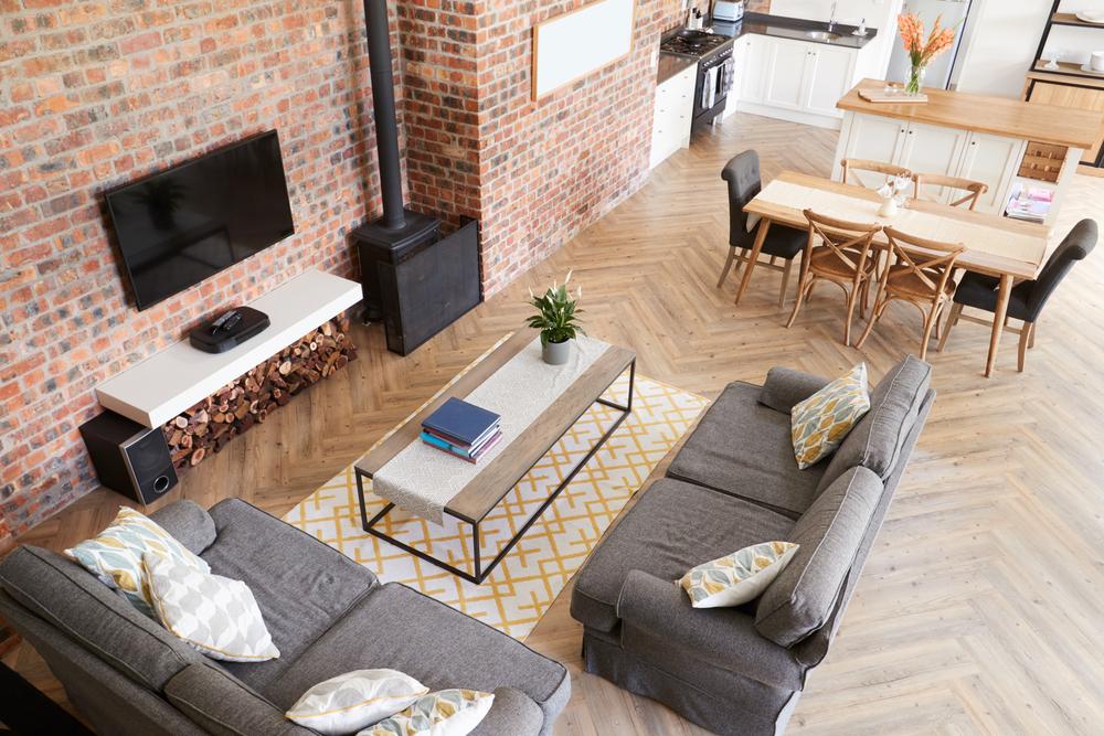 Дизайн домашнего интерьера открытой планировки