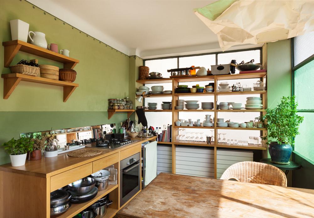 организованная кухня без шкафов