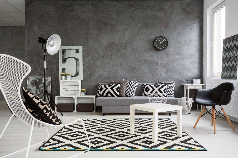 черно-белые коврики