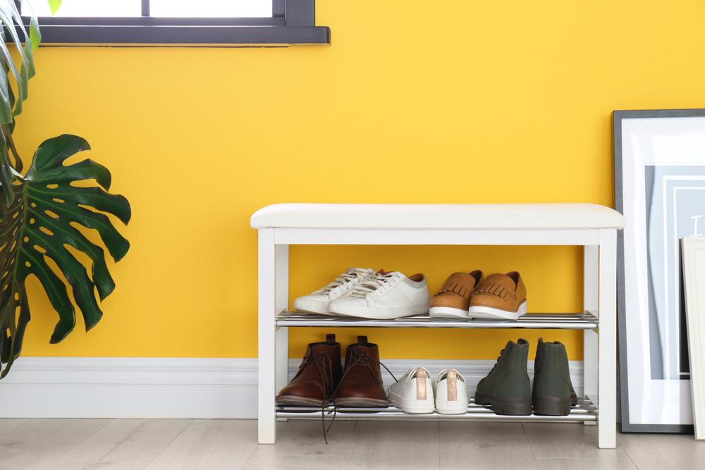 Полка для обуви с сиденьем