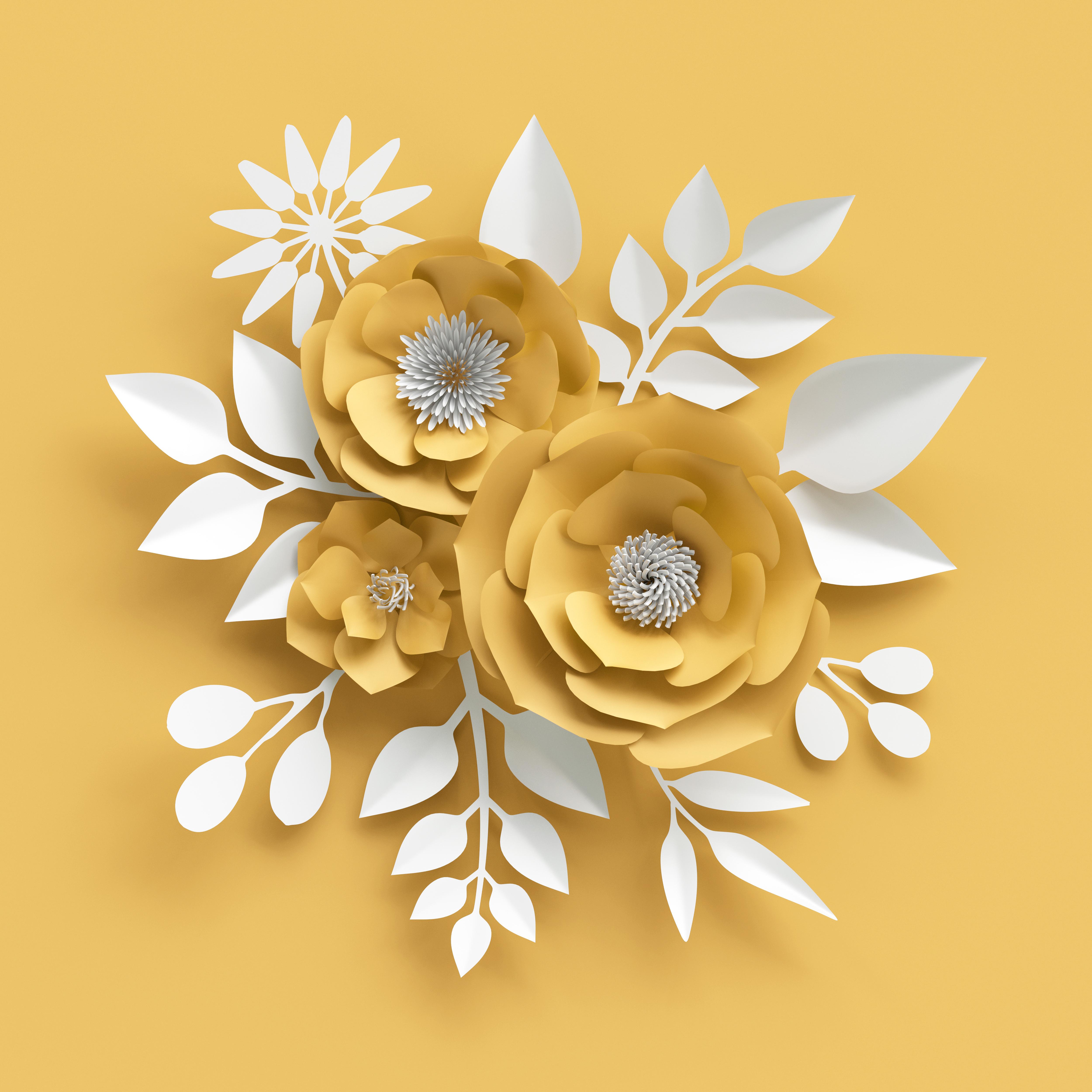 украшение с бумажным цветком