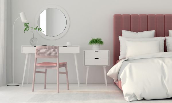 минималистский туалетный столик Дизайн