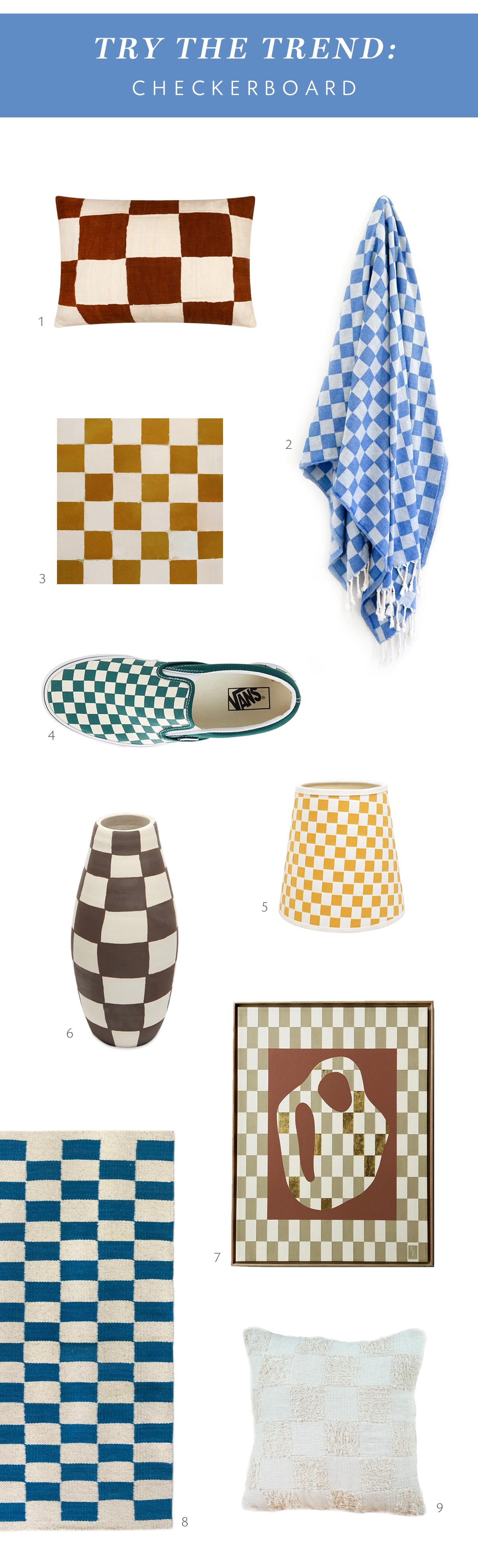 тенденция шахматной доски в доме coco kelley