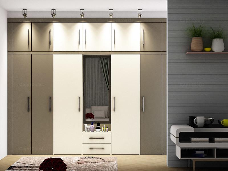 Дизайн гардероба с туалетным столиком