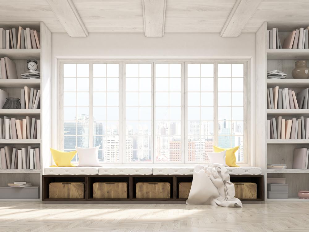 уголок для чтения с сиденьем у окна