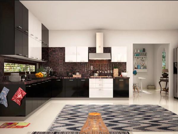 Кухонные шкафы в двух тонах
