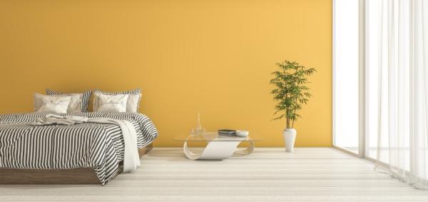 Идеи желтого цвета стен