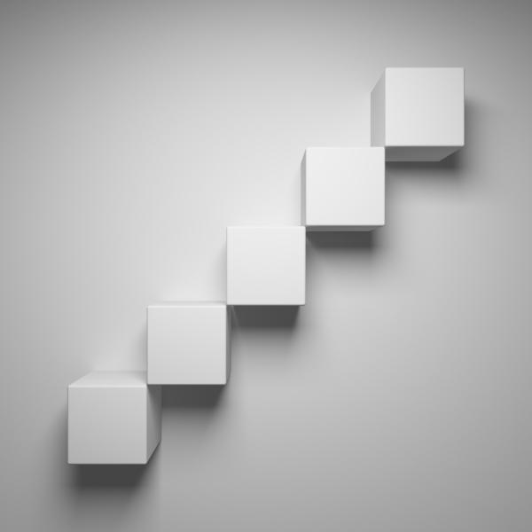 Кубические узоры на стене