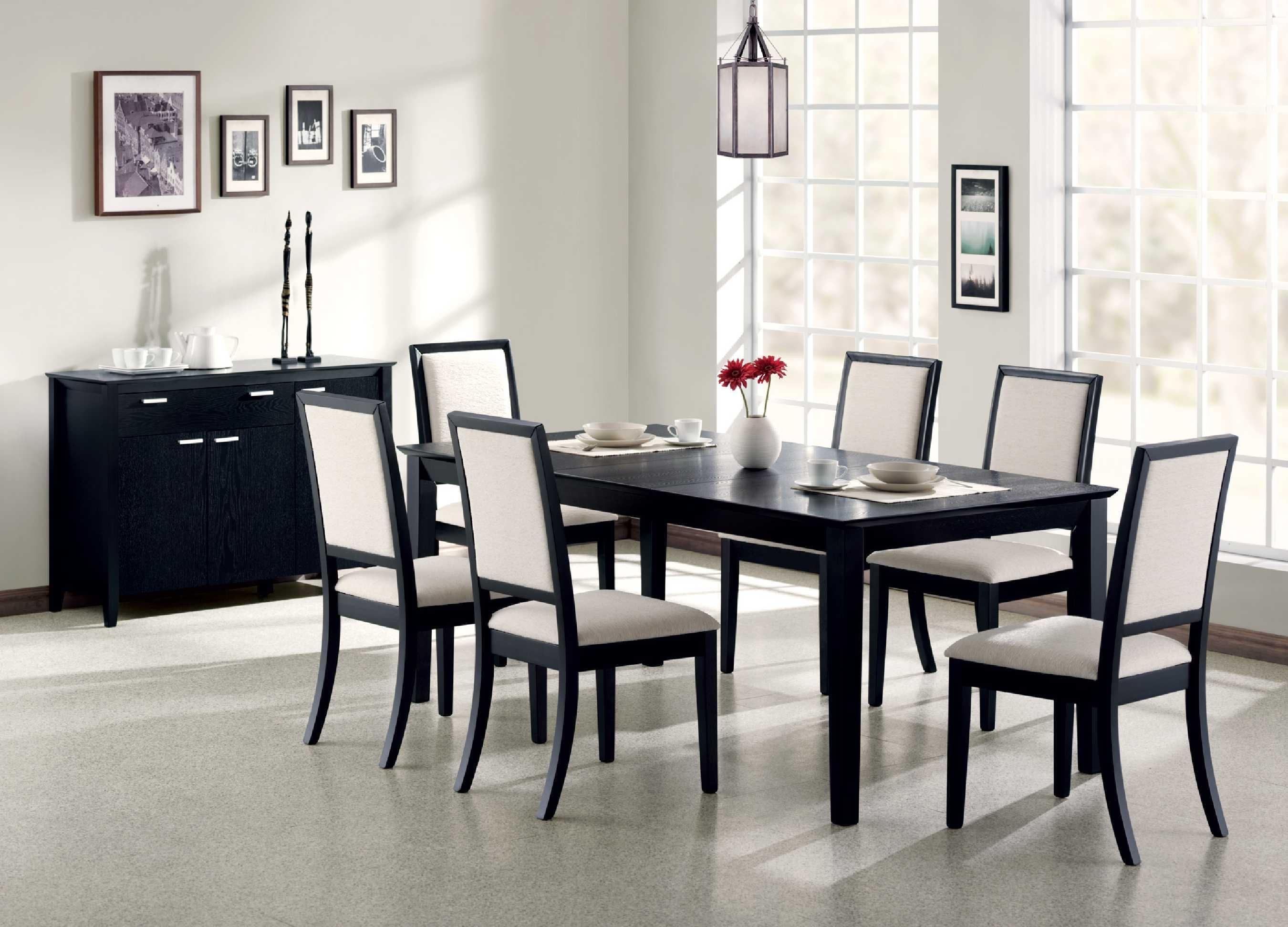 Черно-белая столовая