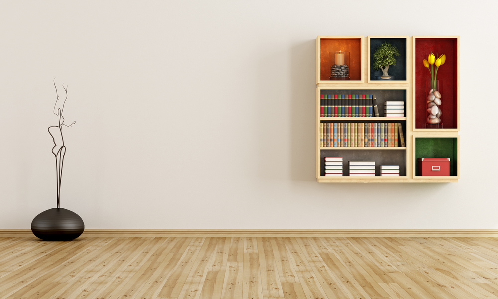 кубический дизайн книжных полок