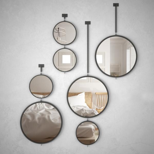 Зеркальные идеи украшения стен