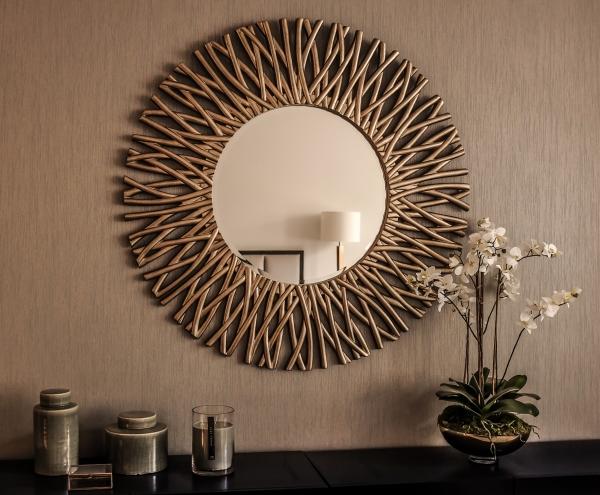 Идеи зеркального декора